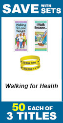 Walking for Health Set of 3; 150 total