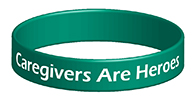 Caregivers Are Heroes Wristband