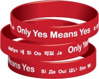 Only Yes Means Yes Wristband