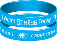 I Won't Stress Today Wristband