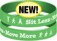 Sit Less Move More Wristband