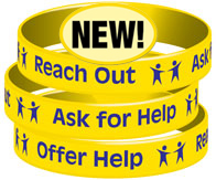 Reach Out * Ask For Help * Offer Help Wristband