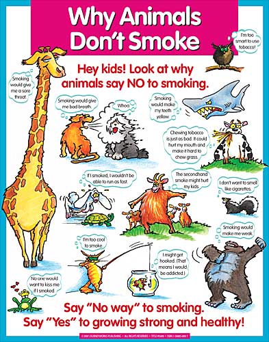 why animals dont smoke display poster